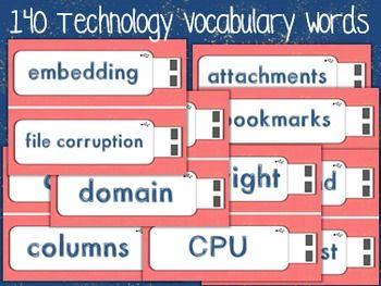 Technology Vocabulary Word Wall