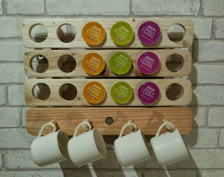 Reclaimed Wood Dolce Gusto Pod Holder / Rack in Home, Furniture & DIY | eBay