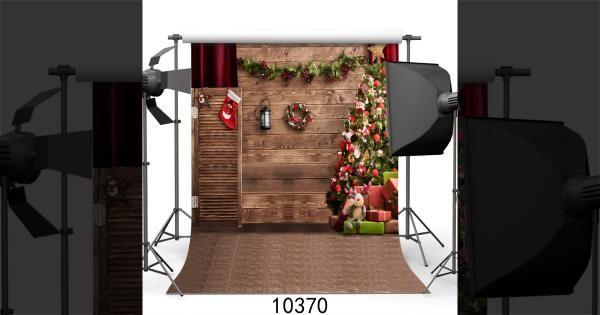 رخيصة شجرة عيد أرضية الخشب الجدار الديكور صورة استوديو التصوير الخلفيات يبيع الجودة خلف Christmas Tree Photography Studio Backdrops Background For Photography