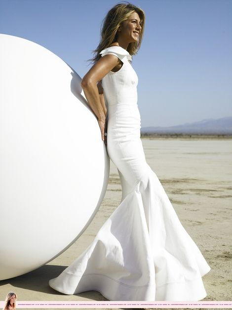 Jennifer Aniston wearing Zac Posen. Beautiful...sigh.