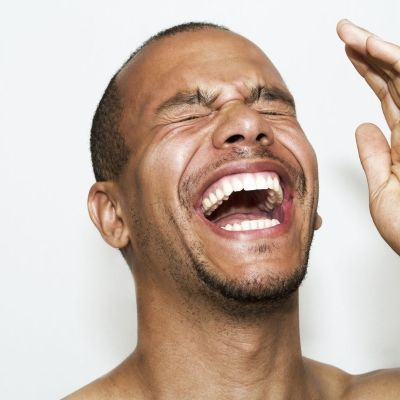 Facial muscles used to laugh