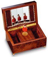 Boîtes à bijoux musicales reuge avec poupées dansantes Boîte à bijoux musicale Reuge avec poupée dansante : boîte Reuge avec ballerine dansante