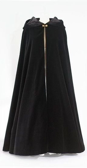 Black Wool Cloak with Hood <3