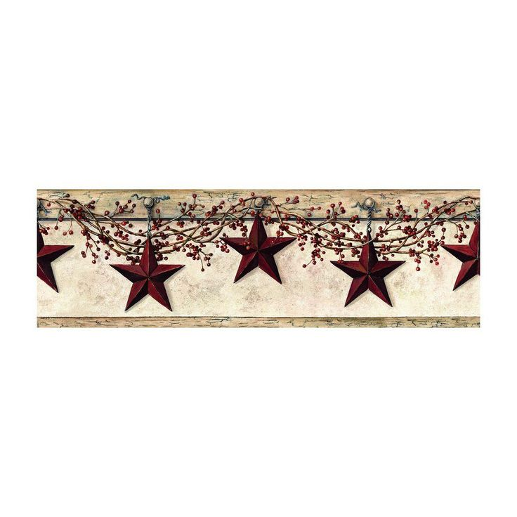York Wallcoverings Best of Country Hanging Star Wallpaper