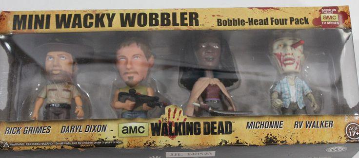 NIB Walking Dead Figure Set Funko TV Bobble Head Mini Wacky Wobbler 4 Pack AMC   Toys & Hobbies, TV, Movie & Character Toys, Other TV/Movie Character Toys   eBay!