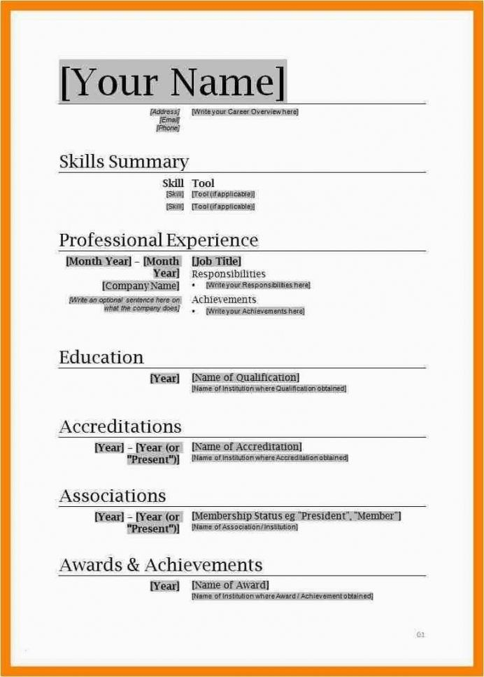 Resume Format Word Document Free Download Huroncountychamber Com