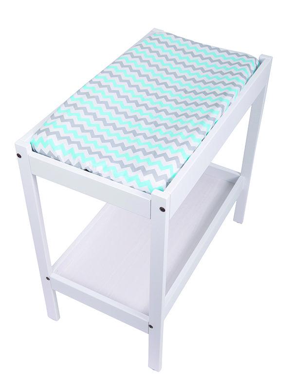 Change Table Mat Cover- Chevron Aqua