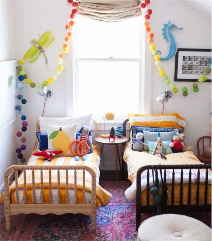 Decorating Ideas For Unisex Kids Bedroom Kids Rooms Shared Kids Shared Bedroom Unisex Bedroom Kids