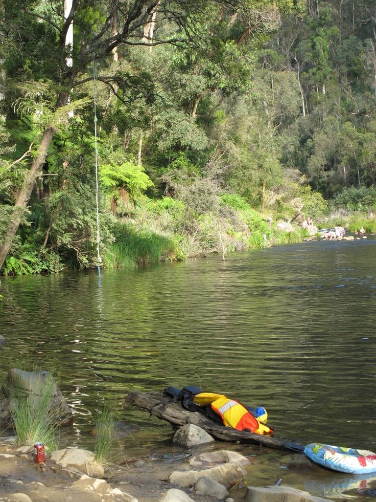 Riverbank view, Walhala Swimming Hole: Thomson River Walhalla, Victoria, Australia