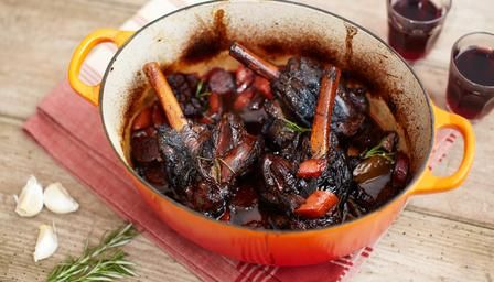 Rioja braised lamb shanks with chorizo - an upside to the colder weather - can't wait to try this on a wintry Sunday!
