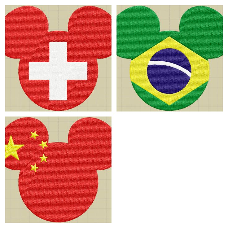3 digital EmbroideryDdisney Mouse Flag/Topolino Disney Bandiera di DavidEmbroidery su Etsy