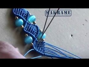 Βραχιόλι Μακραμέ με ZigZag Μέρος Ι / Micromacrame Bracelet Part I - YouTube
