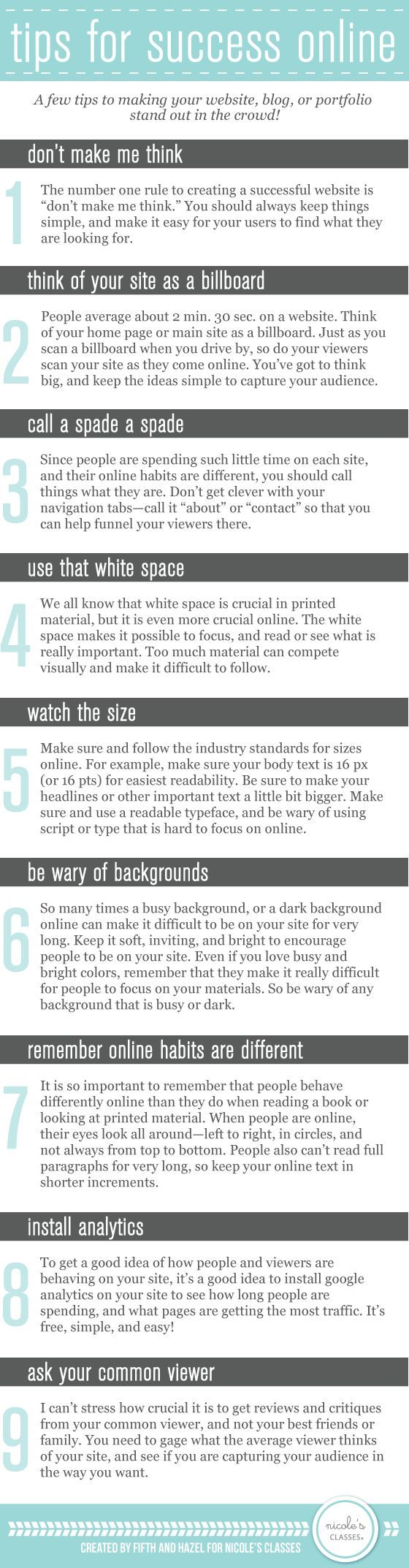 10 Tips to Making Your Website and Portfolio Stand Out in the Crowd | #webdesign #portfolio #infographic