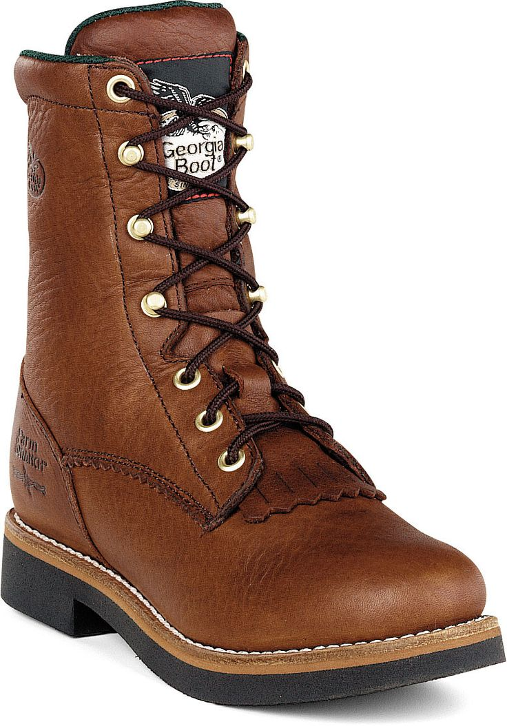 "Women's Work Boot - Georgia Boot 8"" Lacer Work Boot. Perfect for women who do the tough work."