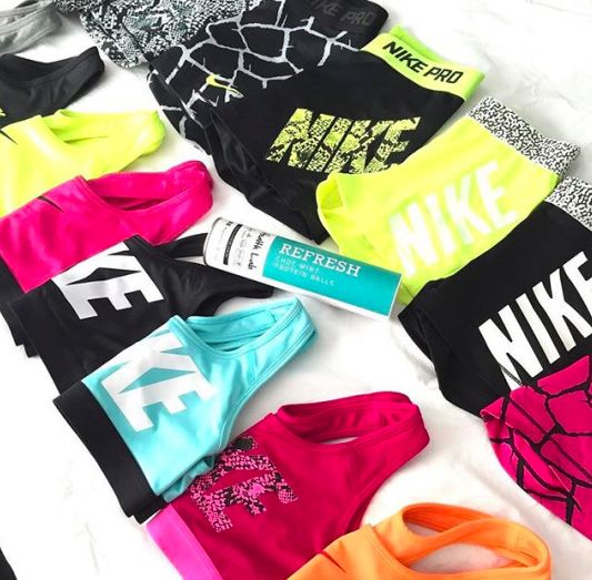 Any of the Nike pro shorts and sports bras