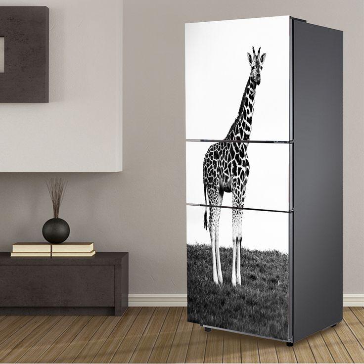 Cheap refrigerator sticker, Buy Quality sticker fridge directly from China fridge wallpaper Suppliers:  yazi Giraffe PVC Self Adhesive Refrigerator Sticker Fridge Door Cover Sticker Wallpaper