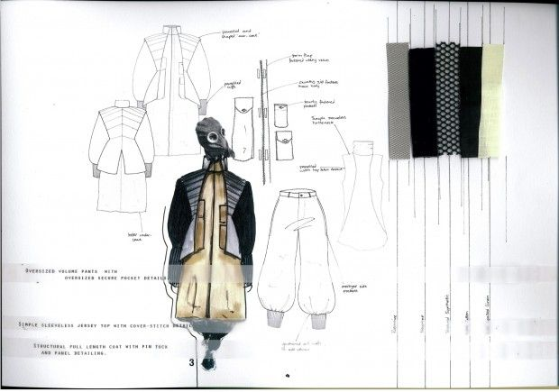 Fashion Sketchbook - post-apocalyptic fashion design; fashion drawings & fabrics // Victoria Salmon
