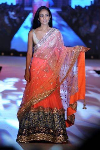 Suchitra Pillai at Pidilite-CPAA Charity show by Manish Malhotra and Shaina NC, via @VogueIndia