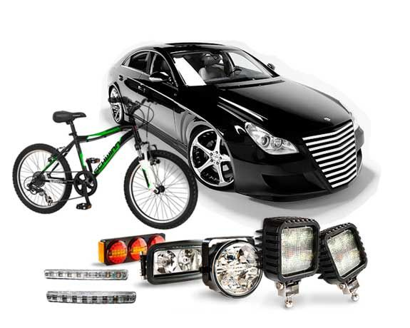 Buy lights & lighting fixtures for car,bicycle,boat and other vehicle, automotive applications from best lighting shopping online store !