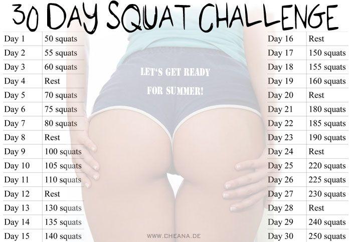 30 Day Squat Challenge | CHEANA.DE