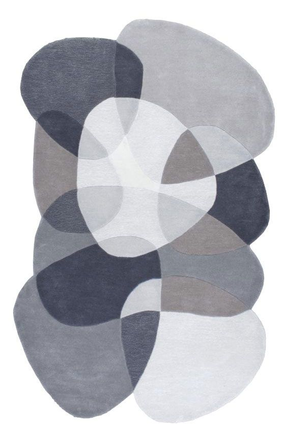 Rugs USA Abrash Shaped Overlapping Stones ACRGR16 Grey Rug