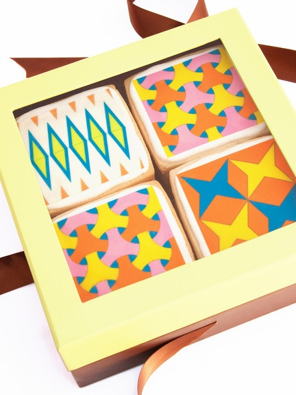 Tile Cookies from Modern Bite [these are beautiful!]Cookies Art, Sugar Cookies, Tile Cookies, Design Tile, Cookie Art, Squares Cookies, Cookies Lovers, Bites Tile, Cookies Decorated