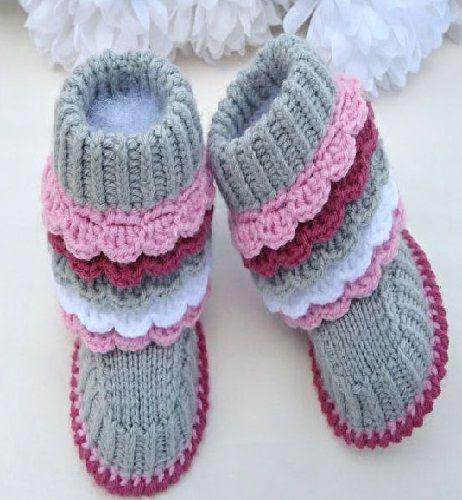 kız bebek tıg ile yapılmış patik modelleri - Kadın Moda