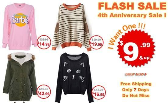 Super slim price flash sale! Only 7 days! The Greatest Hits Collection! $9.99 up! Comment under the product, and get a chance to win a free one. Already started! Don't miss, girls!  Go: http://www.romwe.com/flashsale/activeleft?active_id=170%3FPardonnemoicecaprice