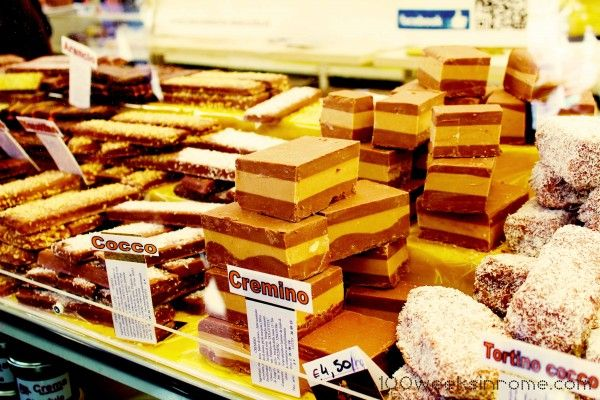Cremino in Perugia, a sort of creamy hazelnut fudge, so good.