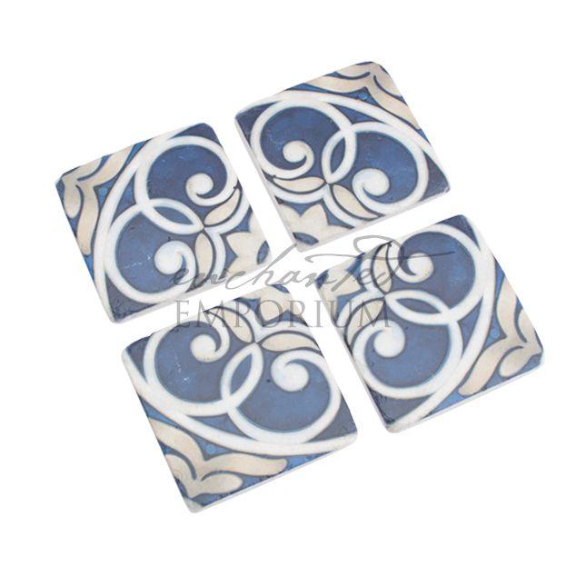 Santorini Blue Coasters Hire, Enchanted Emporium Event Hire