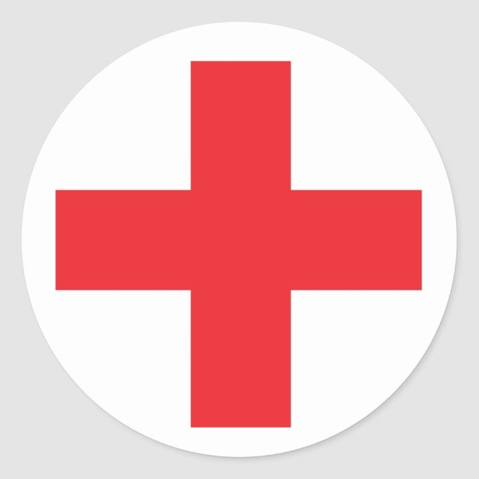 First Aid Kit Sign Classic Round Sticker Zazzle Com Round Stickers First Aid Kit Custom Stickers