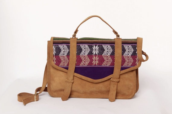Laptop Bag - From SABRINA TACH store on etsy - Cacique Inca Satchel leather bag// Ready to ship //Limited Edition// Laptop bag