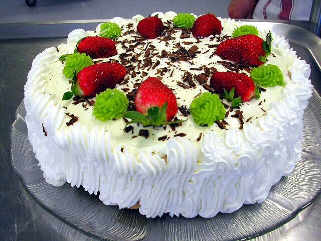 Danish birthday layer-cake