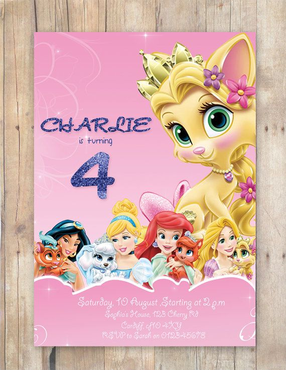 Princess Palace Pets Party Invitation By Flurgdesigns On