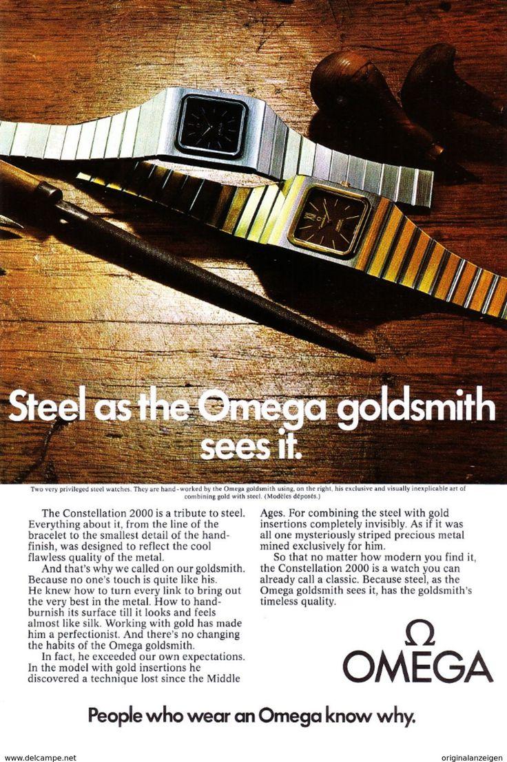 Original-Werbung/ Anzeige (USA) 1976 - OMEGA UHREN / WATCHES - Ca. 160 X 230 Mm - Werbung