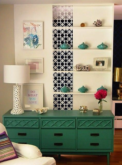 This would be a fun color for the dresser in our bedroom. If we change the wall color that is.
