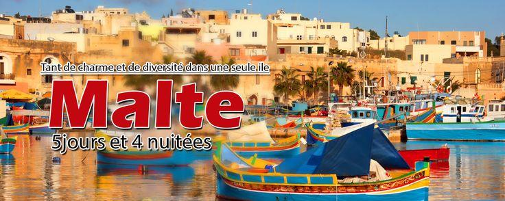 Tant de charme et de diversité dans une seule ile. Découvrez tous les atouts de Malte. Le forfait de base comprend :  -Le billet d'avion aller retour sur un vol régulier.  -4 nuits à Malte à l'hôtel en logement et petit déjeuner.