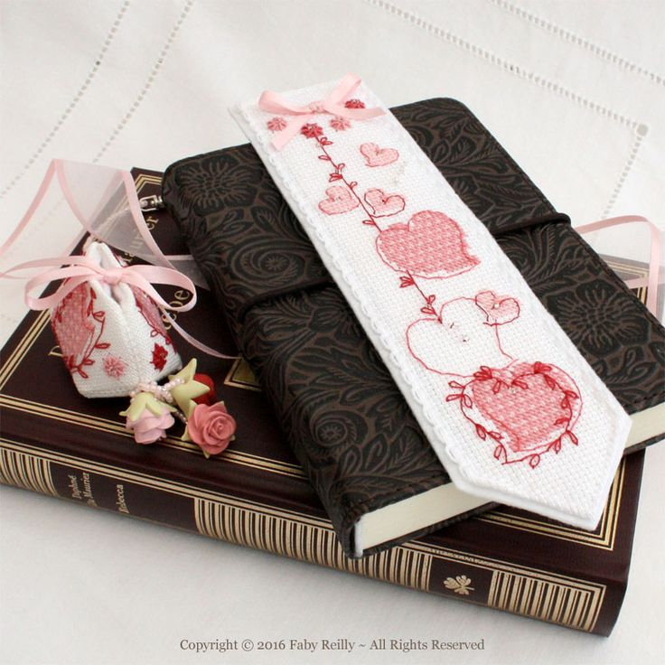 Sweet Heart Bookmark - Faby Reilly Designs