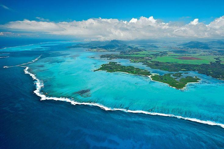 #Golf #Leisure #Mauritius Aerial View of the Ile aux Cerfs Leisure Island