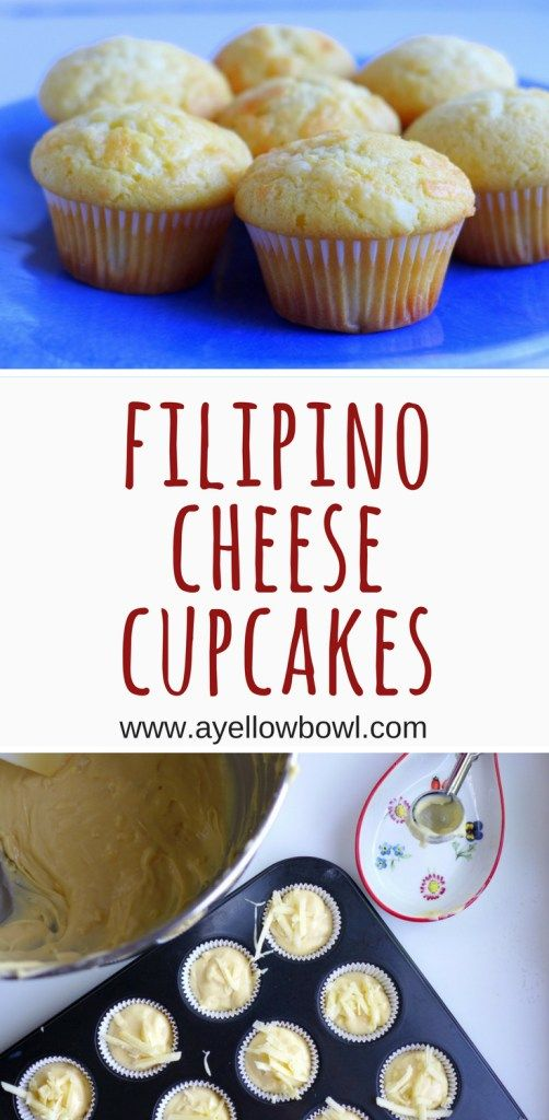 This recipe for Filipino cheese cupcakes makes a delectable cupcake. Recreate this childhood favorite at home. #Filipinofood #cheesecupcakes