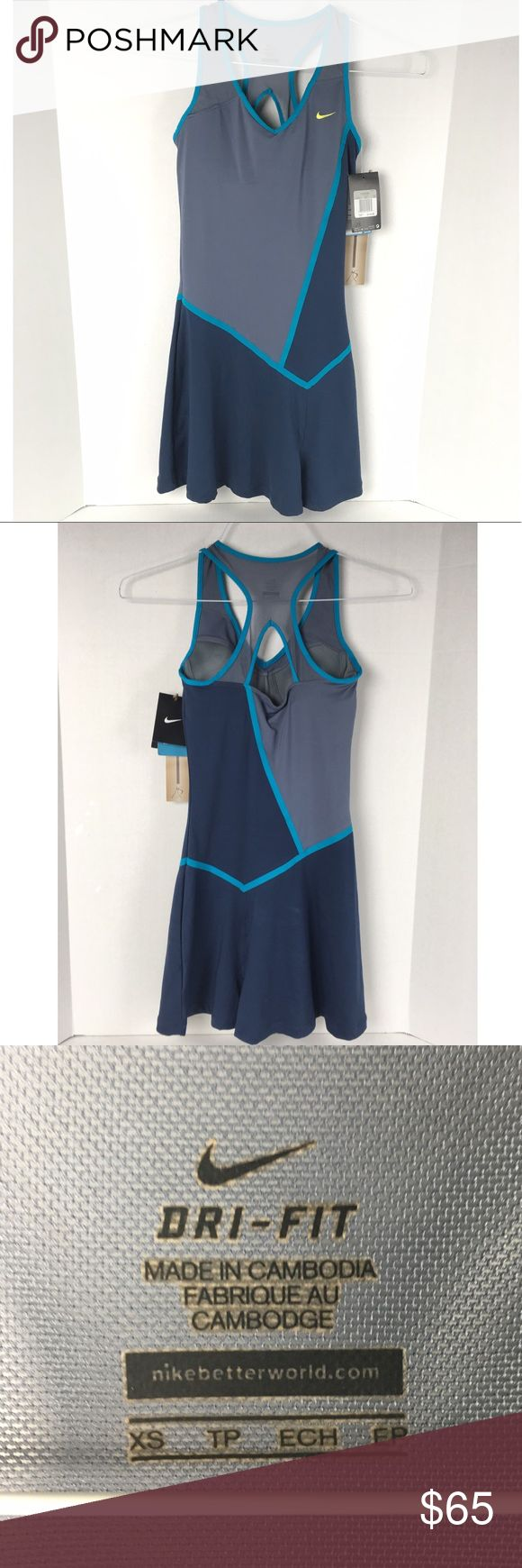 "NWT Nike Maria Sharapova Tennis Dress Brand new beautiful and sleek Nike tennis dress from the Maria Sharapova collection!!! 13"" chest with lightly padded cups; 29.5"" length. Nike Dresses"