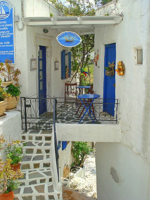 Lefkes, Paros Island, Greece - Stopped right outside this place on our tour.