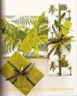 Presentations | Gift Wrapping that reflects the interest of the recipient.~ for the gardener