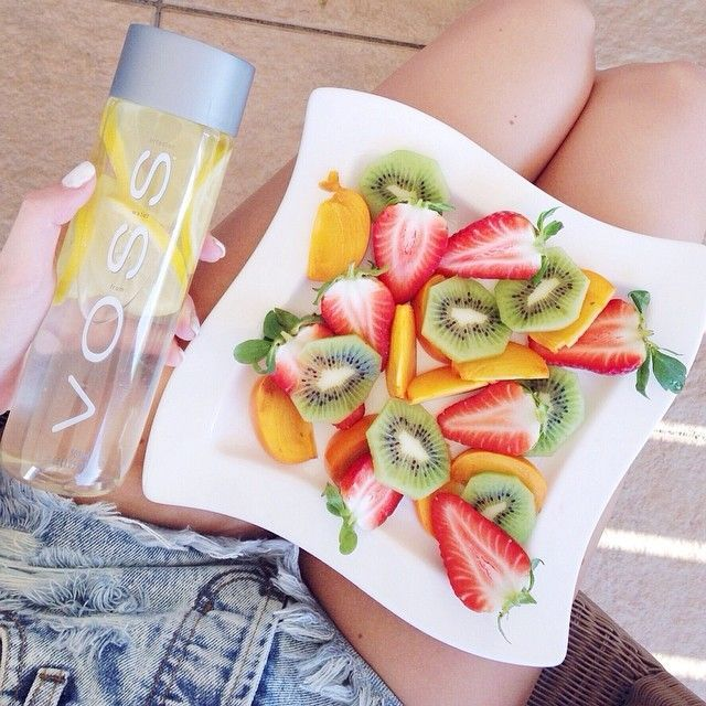 healthy voss and fruit tumblr workout detox fit