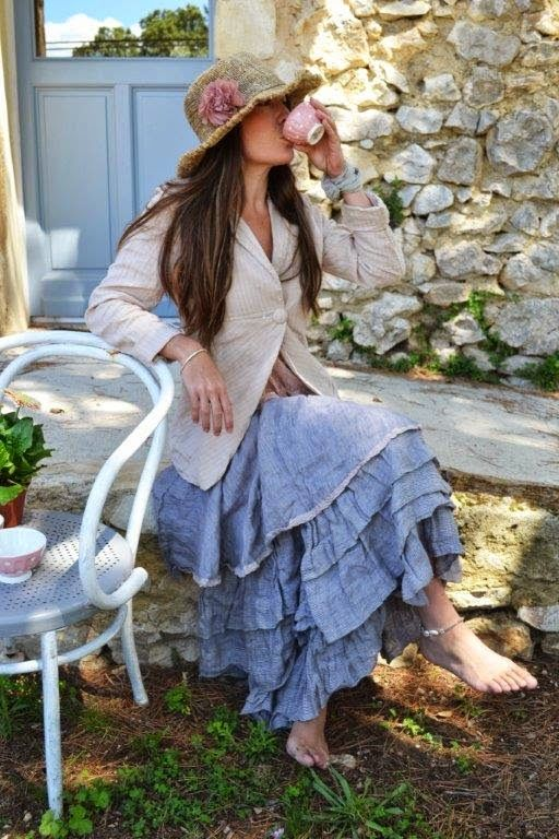 The Clementine Maxi Skirt/Top, from Les Ours d' Uzes//now in stock at our Bellville and Round Top locations