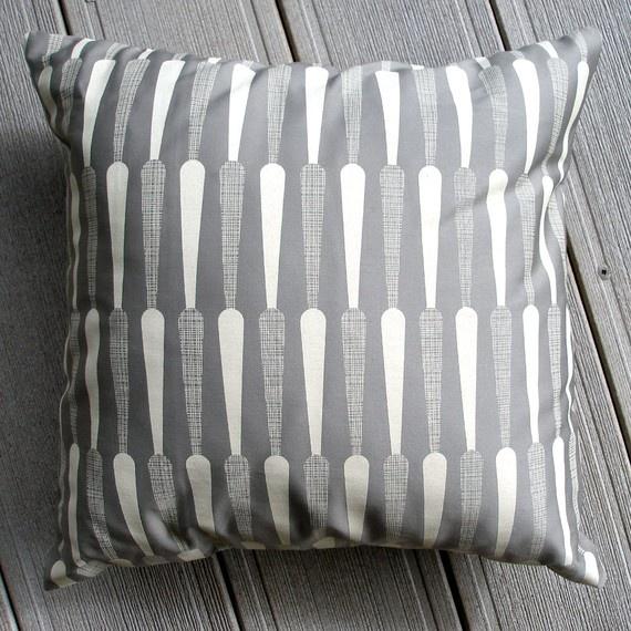 Small Talk Studio - Grey Scandinavian Print Pillow $30: Fall Winter 2014 2015, Scandinavian Prints, Talk Studios, Grey Scandinavian, Fall 2013, Pillows Talk, Prints Pillows, 2014 2015 Mood, Textiles Patterns