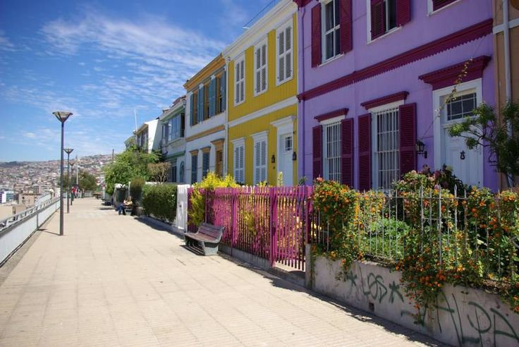 Paseo Atkinson, on Cerro Concepcion in Valparaiso. This area is known for its colourful, Victorian houses and its numerous artistic and cultural tourist attractions.