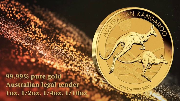 The meticulously made 2018 Australian Kangaroo Gold Bullion Coin Series includes 1oz, 1/2oz, 1/4ozand 1/10oz coins struck from 99.99% pure gold. Portraying two bounding kangaroos, each investor coin is issued by The Perth Mint as Australian legal tender.