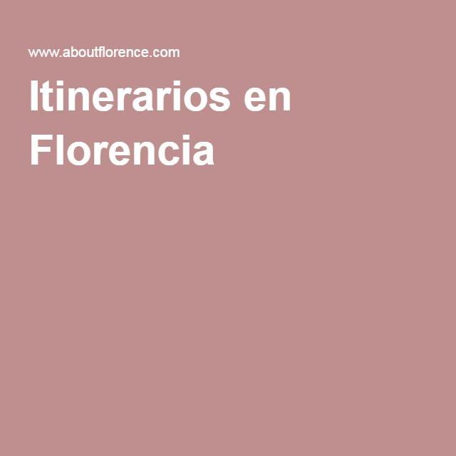 Itinerarios en Florencia