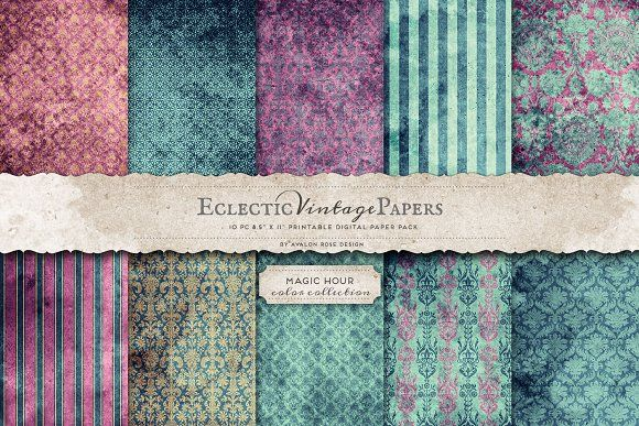 Printable Papers -Magic Hour by Eclectic Anthology on @creativemarket